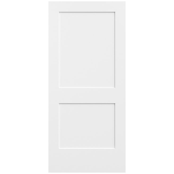 Metrie Interior Closet Door 1644626 36 In X 80 In Primed 2 Panel Logan Interior Door Slab Slab Door Doors Interior Interior Closet Doors