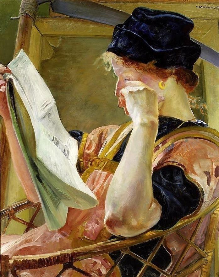 Jacek Malczewski (Polish painter) 1854 - 1929 Model, 1907 oil on cardboard 72.5 x 58.5 cm. (28.5 x 23 in.) National Museum, Warsaw, Poland