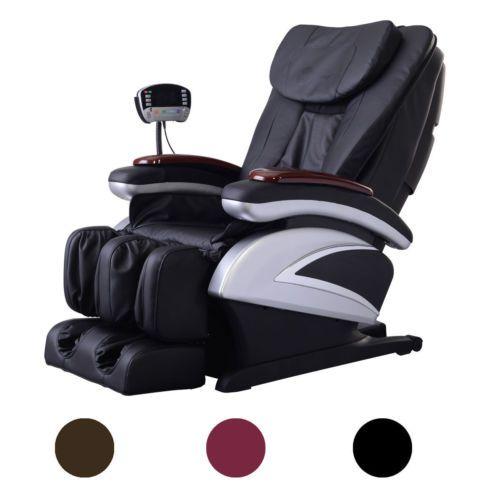 New-Full-Body-Shiatsu-Massage-Chair-Recliner-w-Back-Roller-& Heat-Stretched-Foot