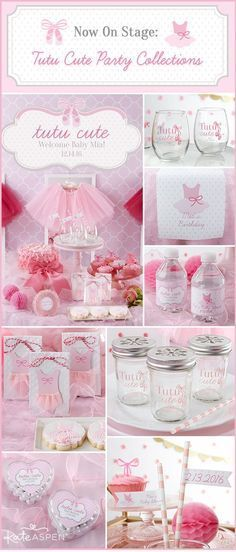 Tutus, bows, ballet shoes and everything pink make for an adorable Tutu Cute themed birthday party or baby shower!
