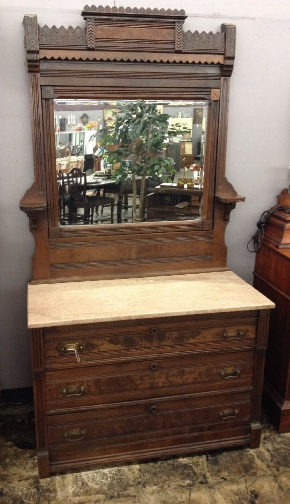 Antique Eastlake Dresser W/ Marble Top U0026 Large Mirror Beautiful!!  #Eastlake. Victorian FurnitureVictorian ...