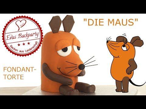 Maustorte / Die Maus / Sendung mit der Maus / Fondanttorte / Motivtorte / Backen mit Evas Backparty - YouTube
