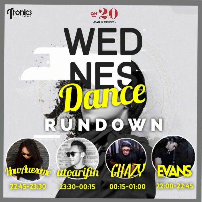 """Line up! Rundown for tonight """"Wednes Dance"""" let's put your best dancing shoes. FREE Entry!!! Call us now for more Info +62411 362-0800  #on20makassar #bar #rooftop #skybar #skylounge #enjoymakasar #mksupdate #rooftopbar #rooftoplounge #astonmakassar #astonmakassarhotel #makassarnightlife #indoclubbers #makassarclub 
