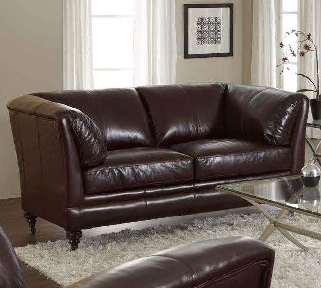 Lazzaro 2016 Sofa Collection In Vintage Cranberry Leather