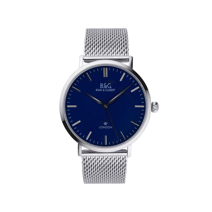 Belgravia in Sliver with Navy Dial.