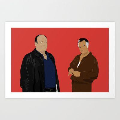 Sopranos - Tony Soprano - Paulie Gualtieri Art Print by Lucho Margolin