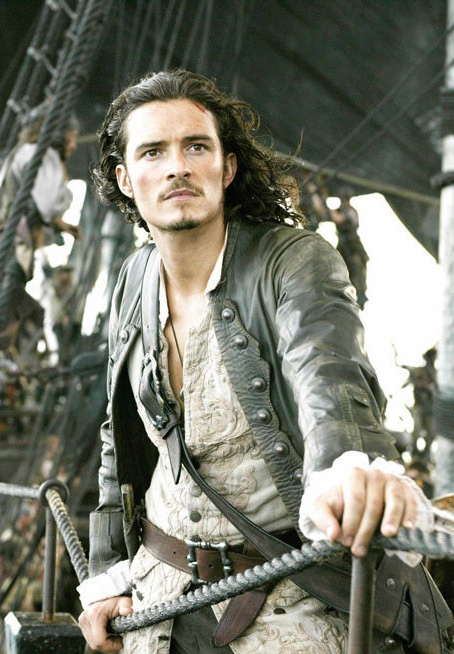 Will Turner (Orlando Bloom) 'Pirates of the Caribbean: Dead Man's Chest' 2006. Costume designed by Penny Rose.