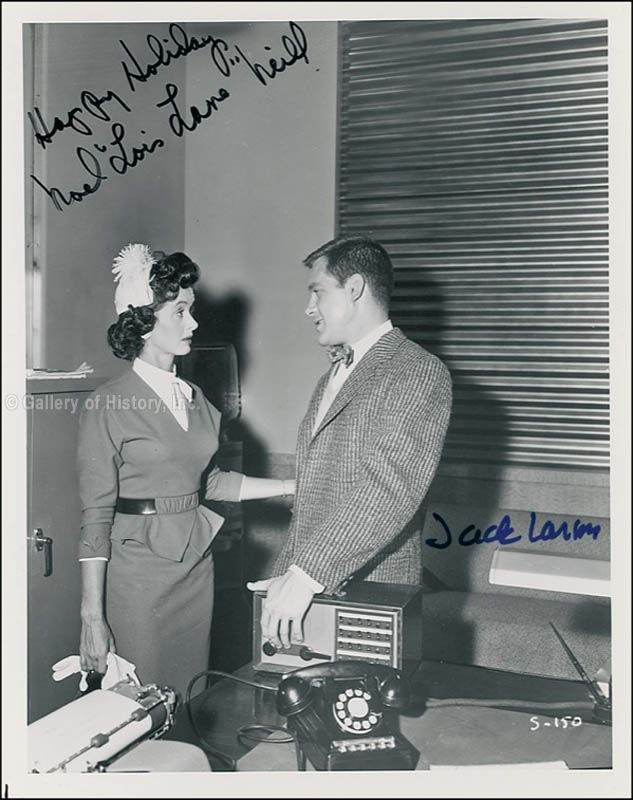 SUPERMAN TV CAST - PHOTOGRAPH SIGNED CO-SIGNED BY: NOEL NEILL, JACK LARSON