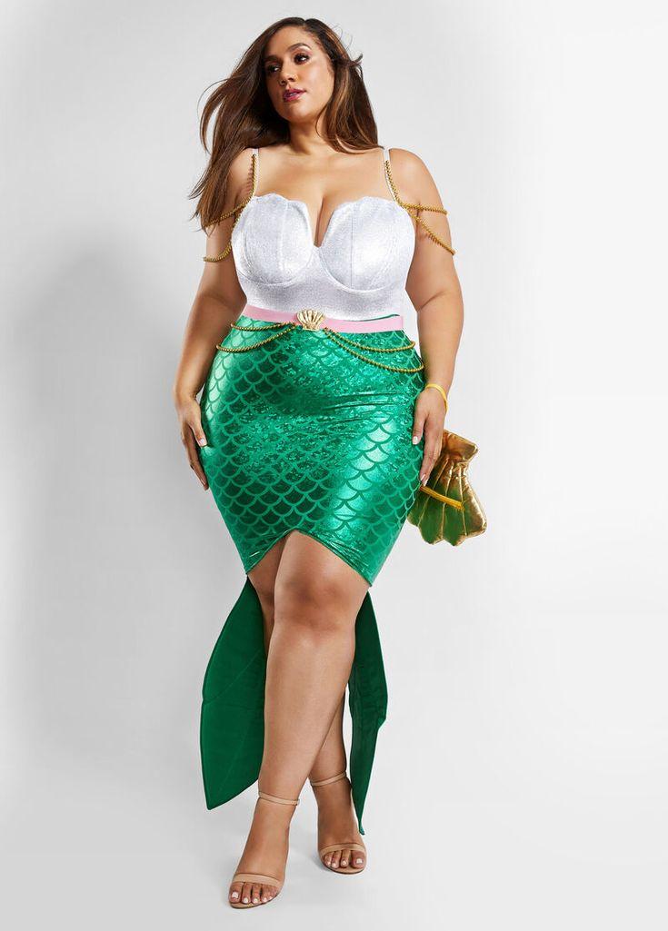 alluring sea siren halloween costume in 2020  plus size