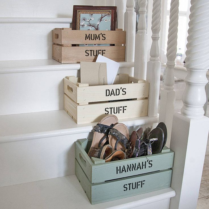 personalised crate - small storage by plantabox | notonthehighstreet.com