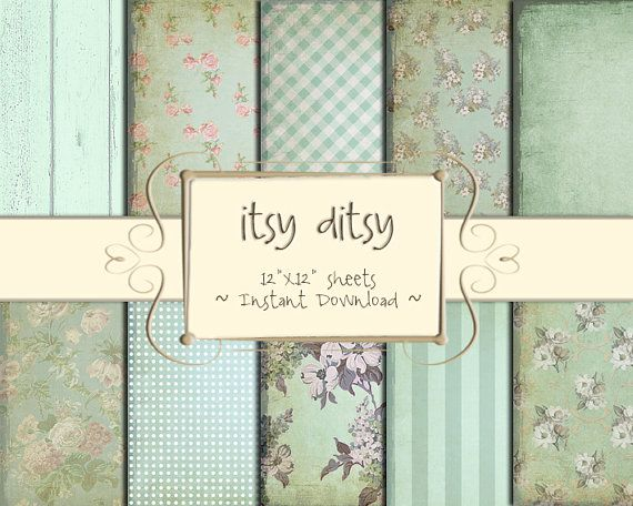Shabby Chic paper Floral Digital paper Flower by itsyditsydesigns, $5.00