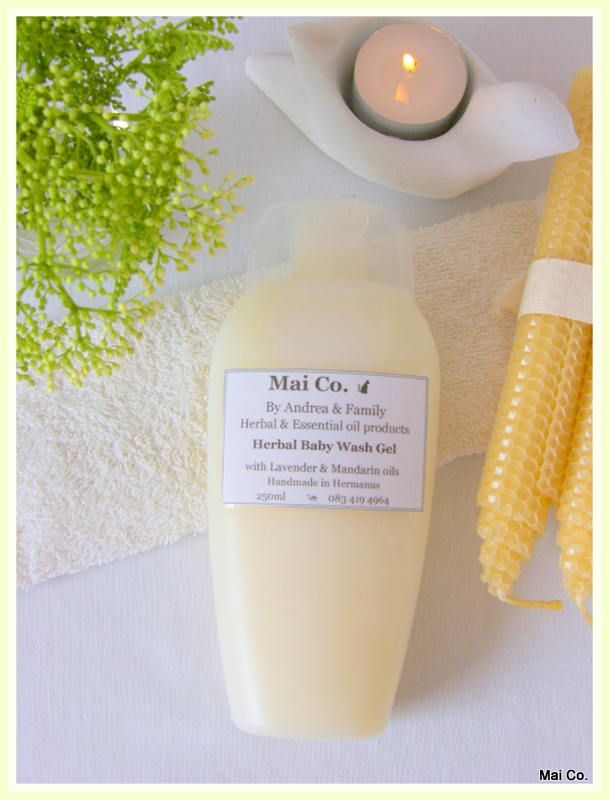 Mai Co Baby Wash Gel with Lavender & Mandarin Essential oils. Safe and gentle to use on  babies skin - including newborns. No additives, chemicals, artificial preservatives and colorants that are sure to cause drying and skin irritation.