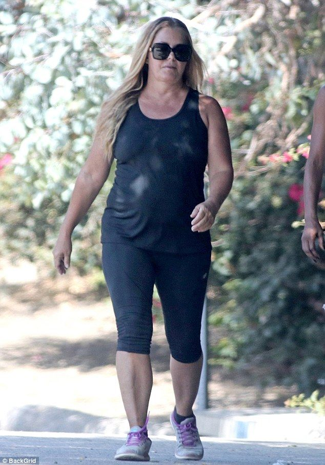 Working out: Baywatch alum Nicole Eggert went for an invigorating morning hike in Studio City on Wednesday