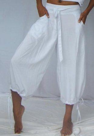 WHITE PANT CAPRI GAUCHO - FITS (ONE SIZE) - L 1X 2X - @Donnna Turner LOTUSTRADERS LOTUSTRADERS. $40.99
