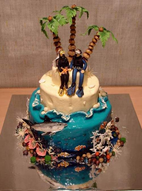 Cake Decorating Classes Wedding : Scuba diving love #wedding #cake - See cake decorating ...