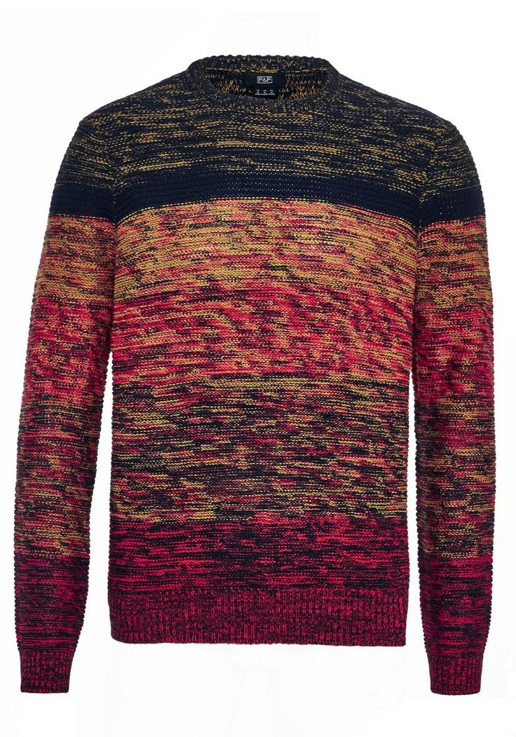 <li><p>Be stylish and warm in this colourful jumper from F&F.With an on-trend ombre effect, the jumper has long sleeves and a classic crew neck. A great option for adding some colour to your autumn and winter wardrobe.</p><p>Crew neck</p><p>Long sleeves</p></li>