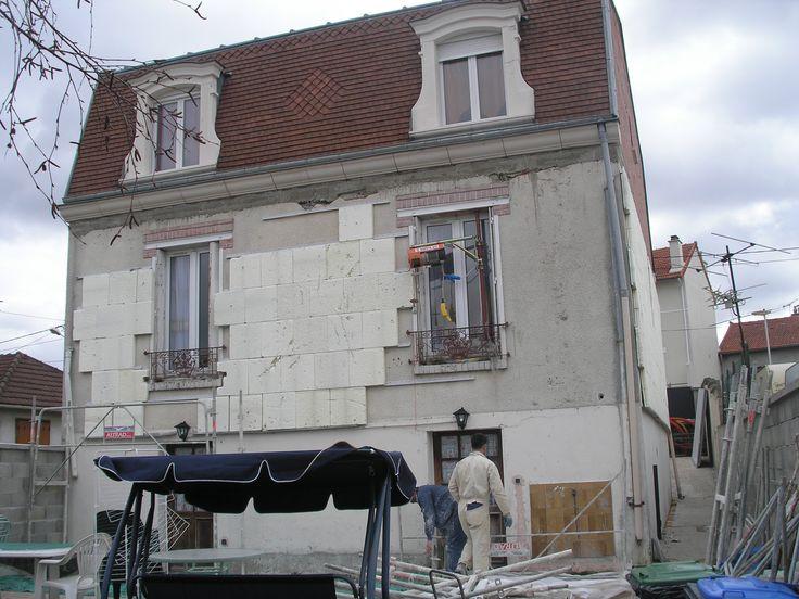 photo de la façade arrière de la maison avant le ravalement // TEXAS Bâtiment - texasbatiment@orange.fr - Tél 0141810290