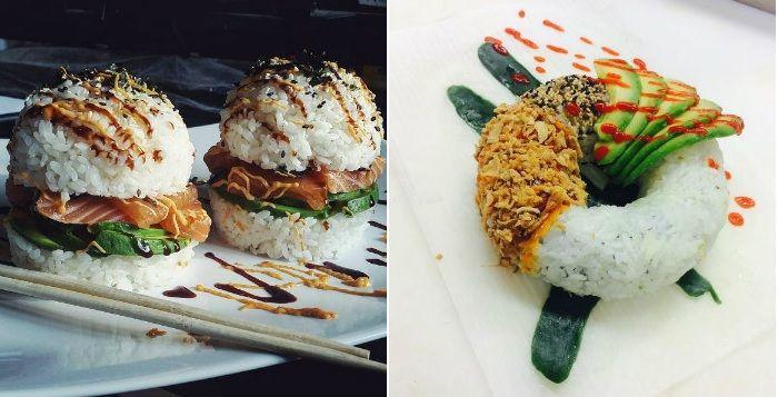 La folie du petit empilage de riz vinaigré et de poisson cru alimente une nouvelle mode consistant à lui donner de nouvelles formes, celles d'emblèmes gourmands occidentaux comme le donut. Chacun le réinvente à sa façon.