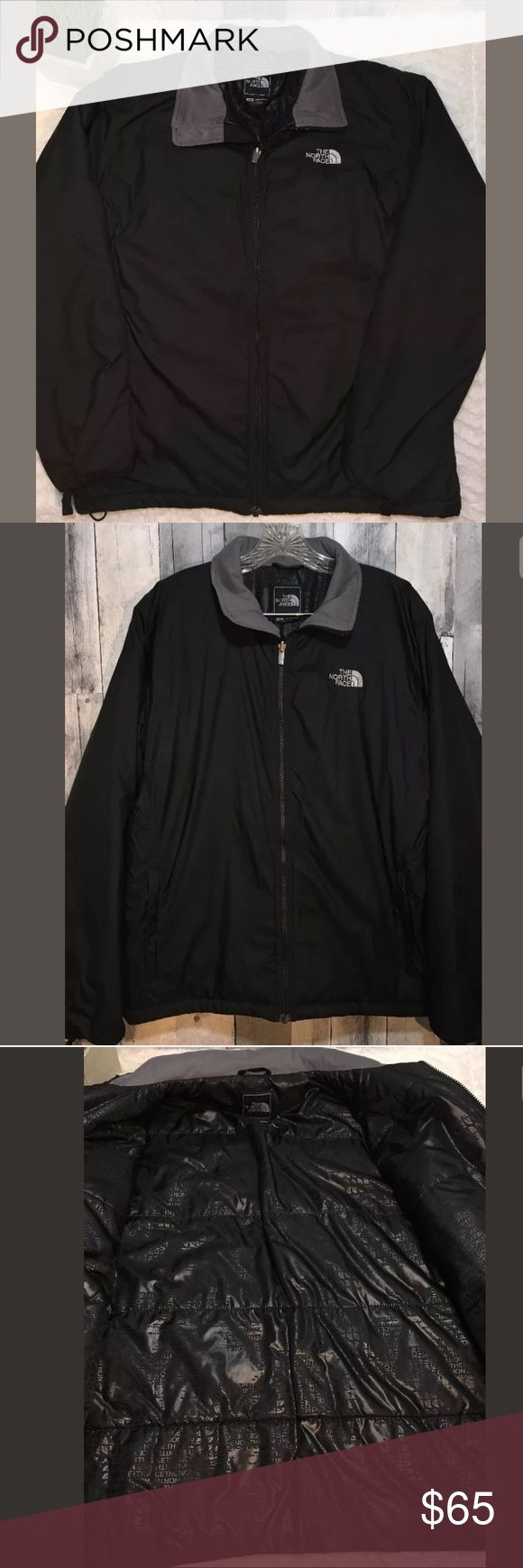"""THE NORTH FACE Mens Lightweight Black Puff Jacket THE NORTH FACE Mens Lightweight Black Puff Jacket Sz Large  Men's jacket is in excellent condition. The small flaw is that at the beginning of the zipper it is missing 2 teeth plus the silver pin is missing  however the jacket and zipper is in PERFECT WORKING condition. The zipper does not come apart if pulled and is fully functional. Please see picture  Armpit to armpit: 25"""" Length: 27.5"""" The North Face Jackets & Coats Puffers"""