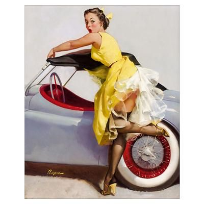 Car Customs Near Me >> 59 best images about Classic Car Pin up Girls on Pinterest | Gil elvgren, Girls and Nice cars