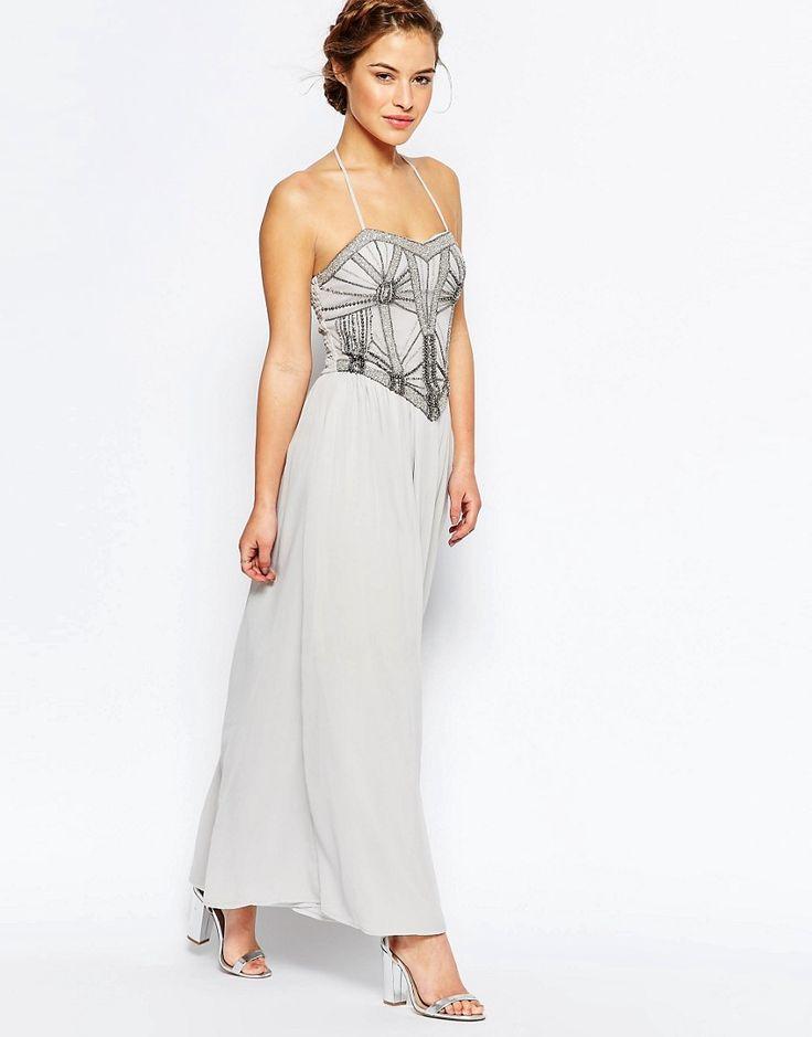 Shop Maya Petite Embellished Bodice Bandeau Maxi Dress at ASOS.