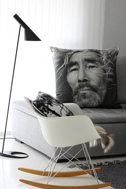 Brilliant pillow idea. The rocking chair reminds me of one of those water landing aircrafts.