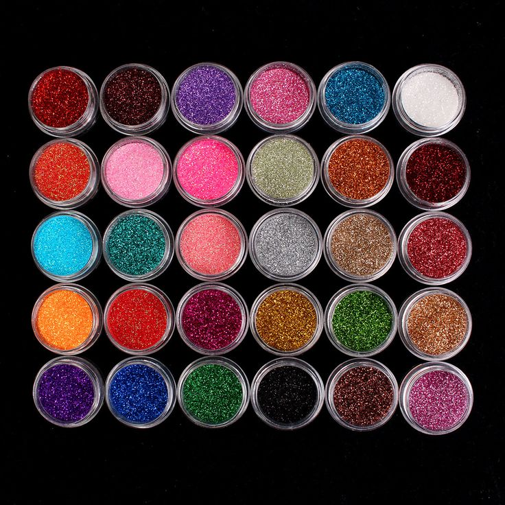 30 Mixed Colors Powder Pigment Glitter Mineral Spangle Eyeshadow Makeup Cosmetic Set Long-lasting
