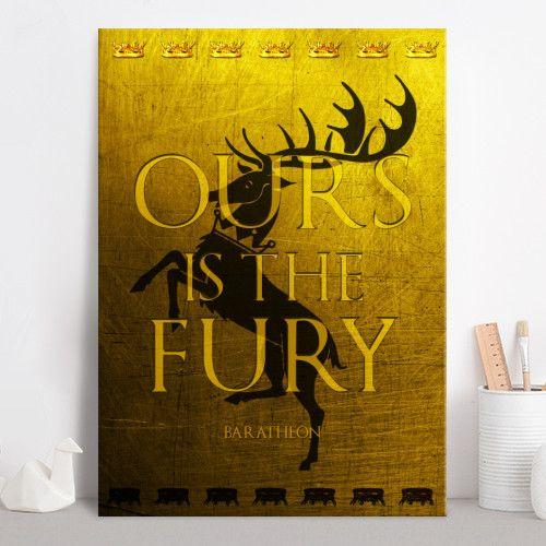 House Baratheon Poster #poster #fantasy #gameofthrones #baratheon #baratheonsigil #oursisthefuryposter  #home #decor #homegifts #giftsforhim #got #gifts #tvseriesposter #gameofthronessigil #gameofthronesposter #giftsforher #displate