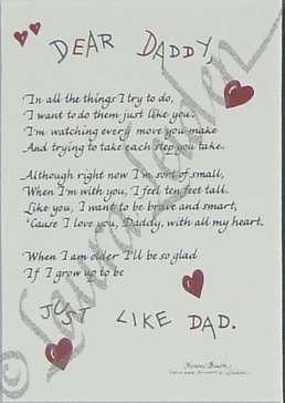 Dear Daddy Poem Picture Frame | All Things For Mom... I love this !  Glad my kids have an amazing daddy they can write this to... I want them to experience with their dad all the things I didn't ! Thank u God for blessing them with the daddy you did !