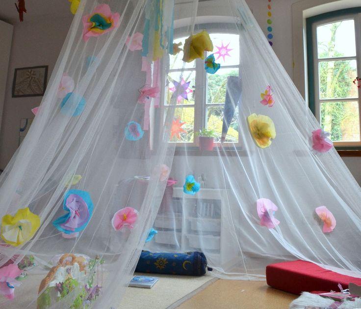 gemachtes und gedachtes: Selbstgemachter Feenpalast für den Kindergeburtstag, Deko für den Feen-und-Elfen-Geburtstag