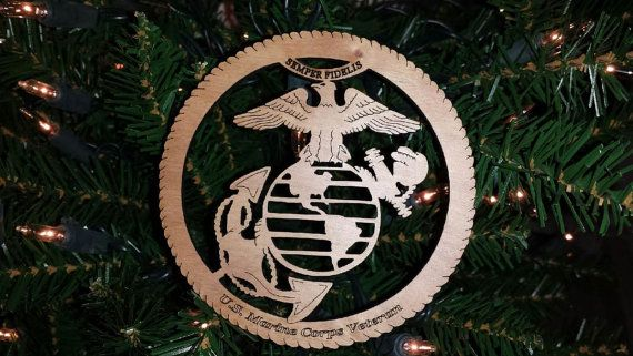 Laser Cut Marine Corp Veteran Ornament