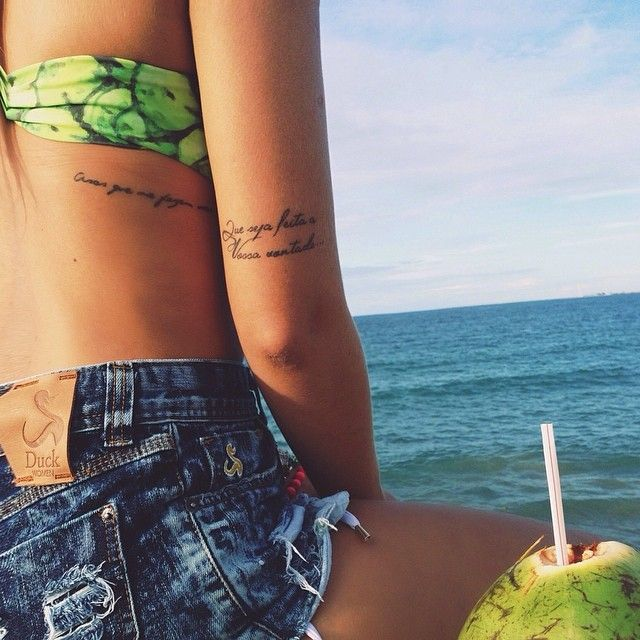Love the placements of these tattoos!