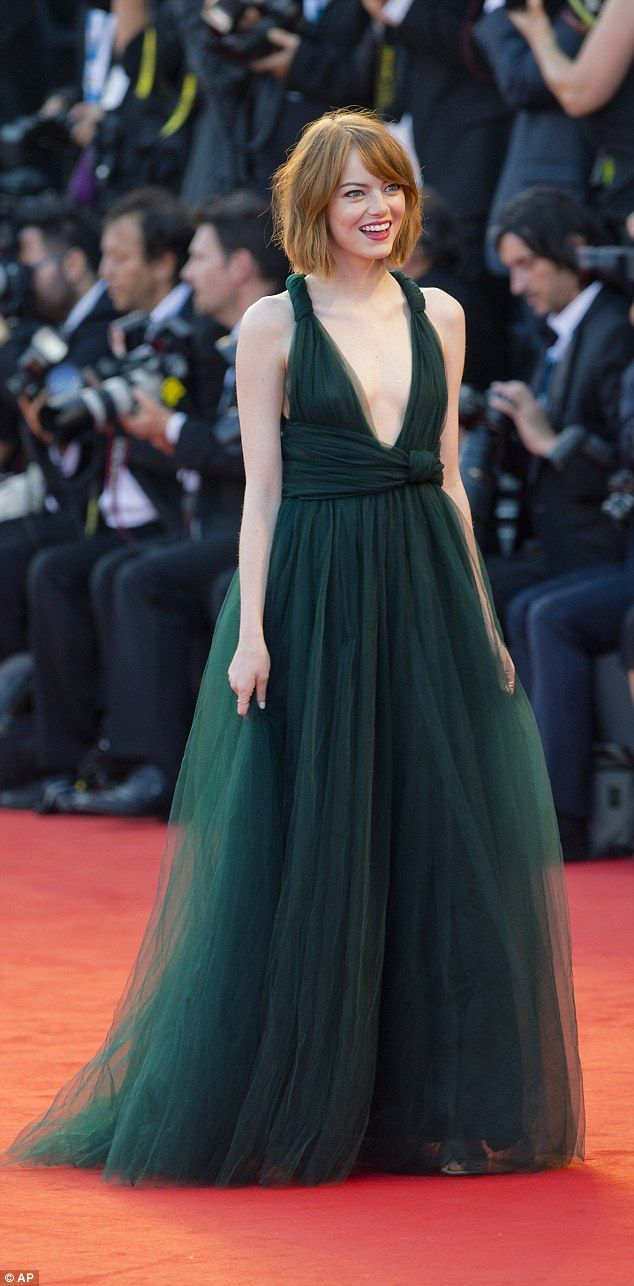 What an experience: 'I learned more in this movie than anything I¿ve ever done,' Emma said at a press conference earlier in the day  love the dress, aside from the plunging neckline