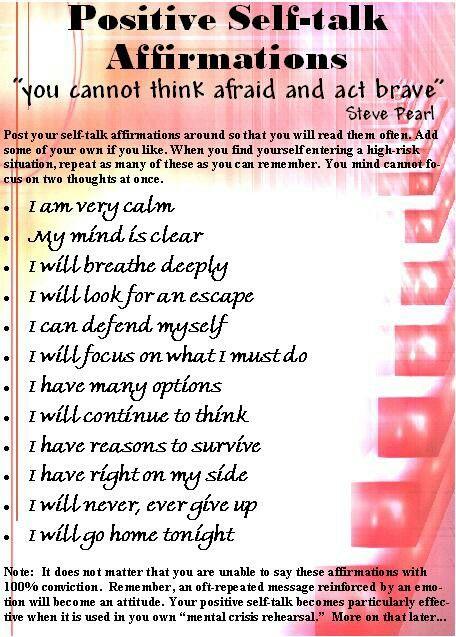 Positive Self Talk Affirmations