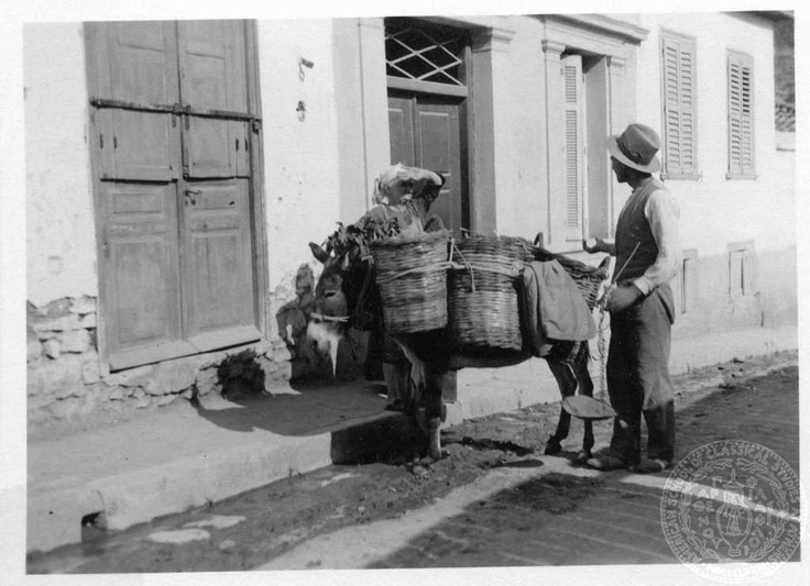 Athens. Vegitable dealer; Dorothy Burr Thompson - Undated (Likely the 20's or 30's.)