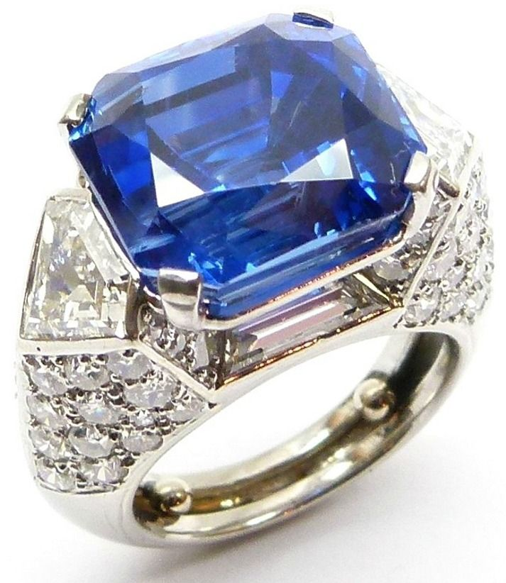 single stone sapphire and diamond cluster ring by cartier paris the cutcorner