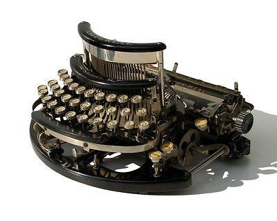 Antique C 1915 Imperial B Typewriter Macchine Da Scrivere Schreibmaschine