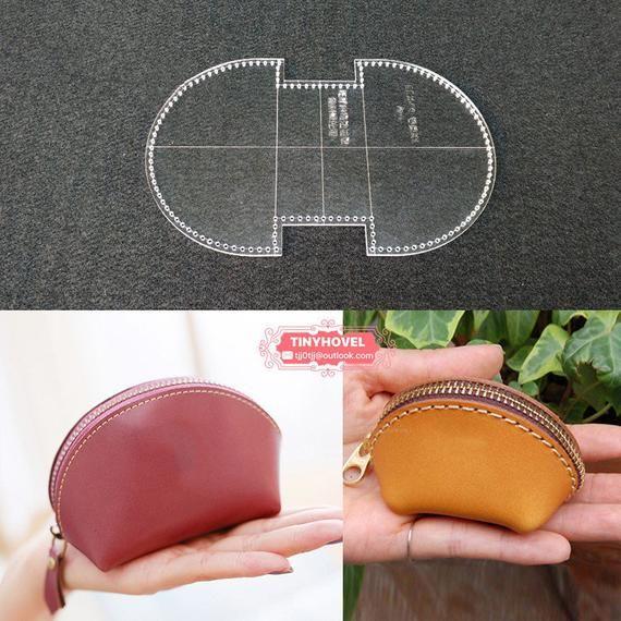 Leder Geldbörse, Tasche Acryl Vorlage ändern – 1 Größe für wählen, Lederhandwerk Muster (A029) BBX