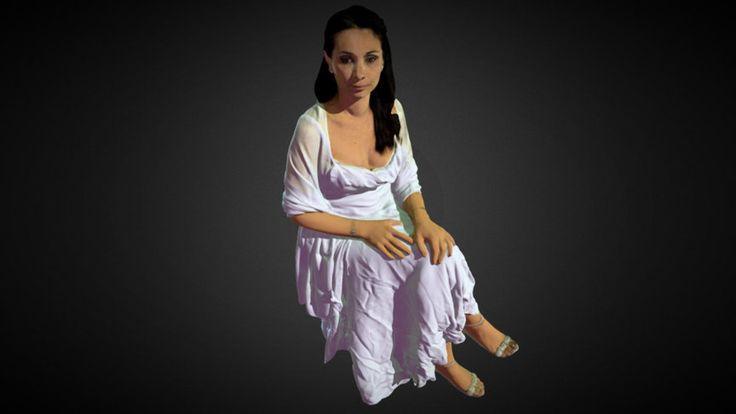 Lady in a white dress - n°2 by lucadibe - 3D model