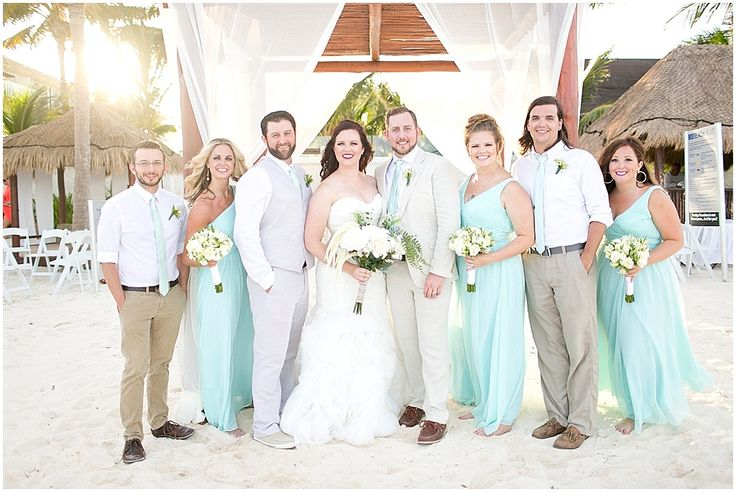 Destination Wedding Dresses Dallas : Destination wedding teal floor length bridesmaid dresses a cancun