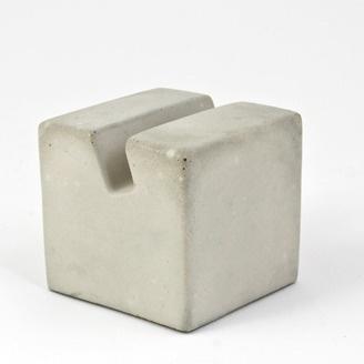 Concrete Echo stand (business card/iPhone holder) by Matt Heide of Concrete Cat (Edmonton AB). Member of the Alberta Craft Council.