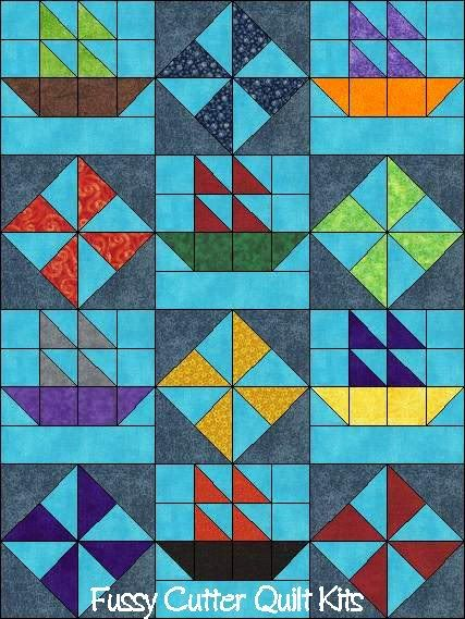 206 best Sailboat Quilts images on Pinterest | Boats, Contemporary ... : sailboat quilt pattern - Adamdwight.com