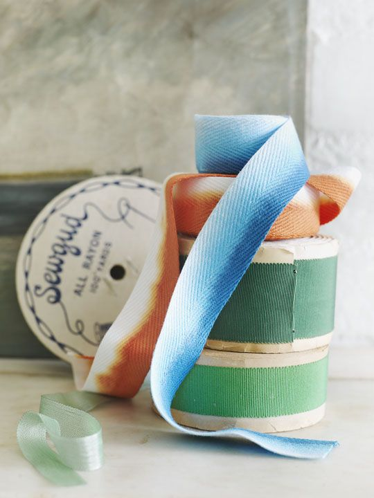 Sweet Paul's Dip-Dyed #Ombre #DIY Ribbons