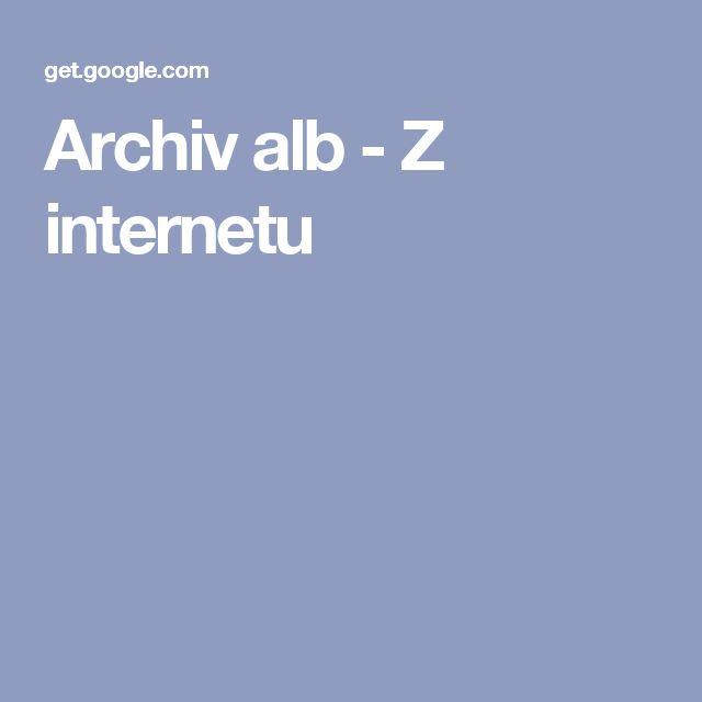 Archiv alb - Z internetu