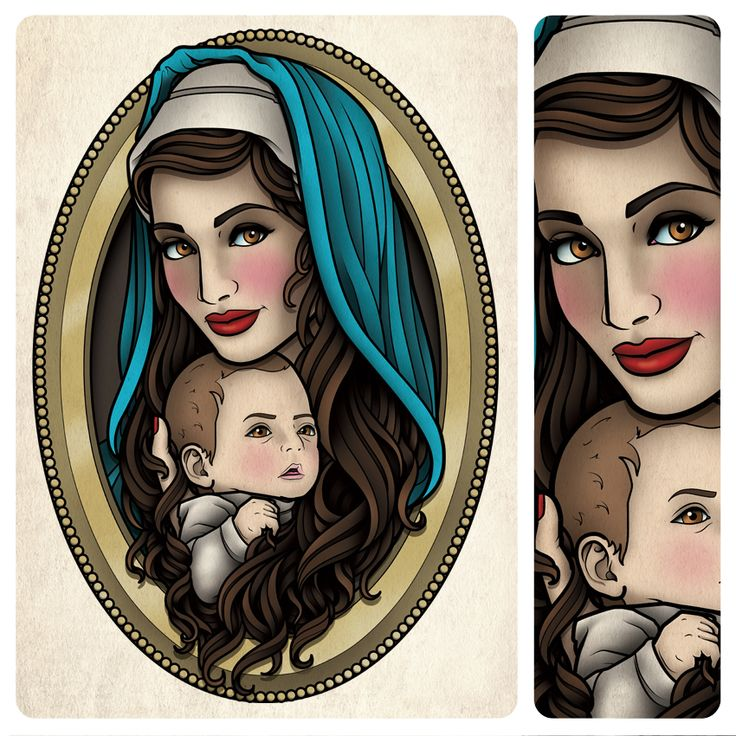 Mother Mary and Baby Jesus by Sam-Phillips-NZ.deviantart.com on @DeviantArt