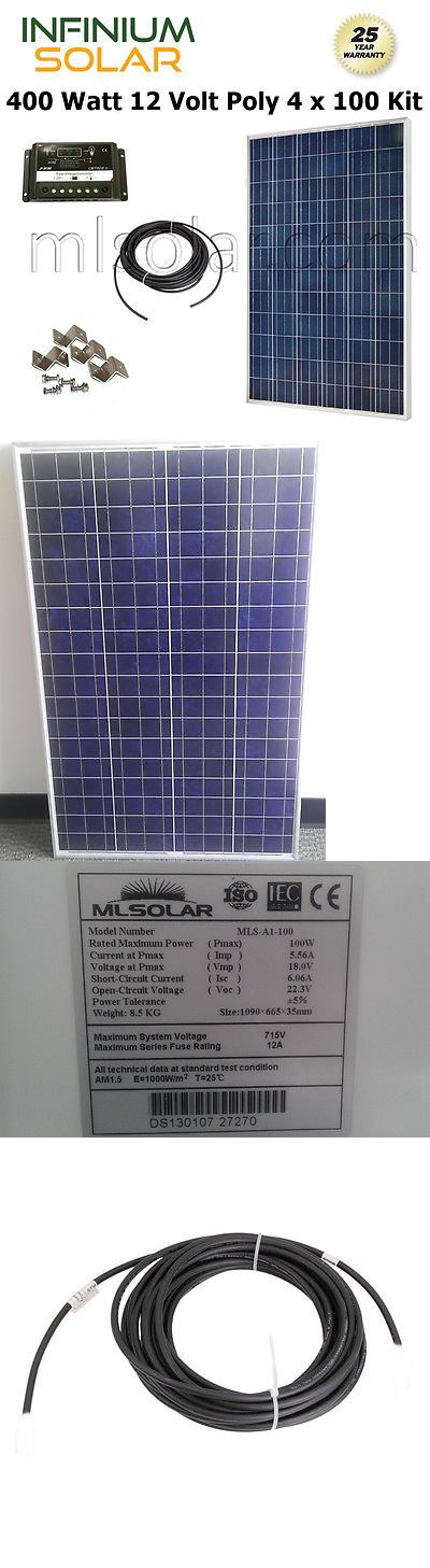 Solar Panels 41981: 400W Watt Solar Kit: 4X 100W Pv Solar Panel 12V 24V Charge Controller Rv Boat -> BUY IT NOW ONLY: $599 on eBay!