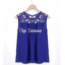 hete verkoop vrouwen tank top chiffon blouse tops blouses vrouwen uitgehold mouwloze chiffon overhemd vrouwen sv14 natuurlijke kleur(China (Mainland))