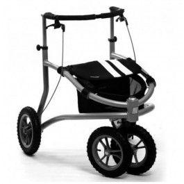 Déambulateur ou rollator 4 roues, tout terrain Trionic Veloped: peut franchir des obstacles de 13 cm...