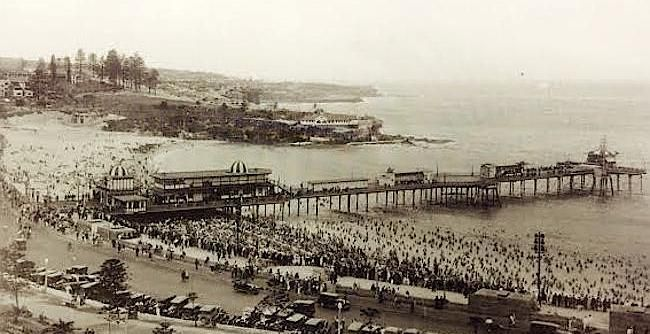 Although beautiful today, Coogee Beach used to look much different in its failed attempt at an amusement pier between 1928 - 1934, fit with theatre, ballroom and penny arcade.