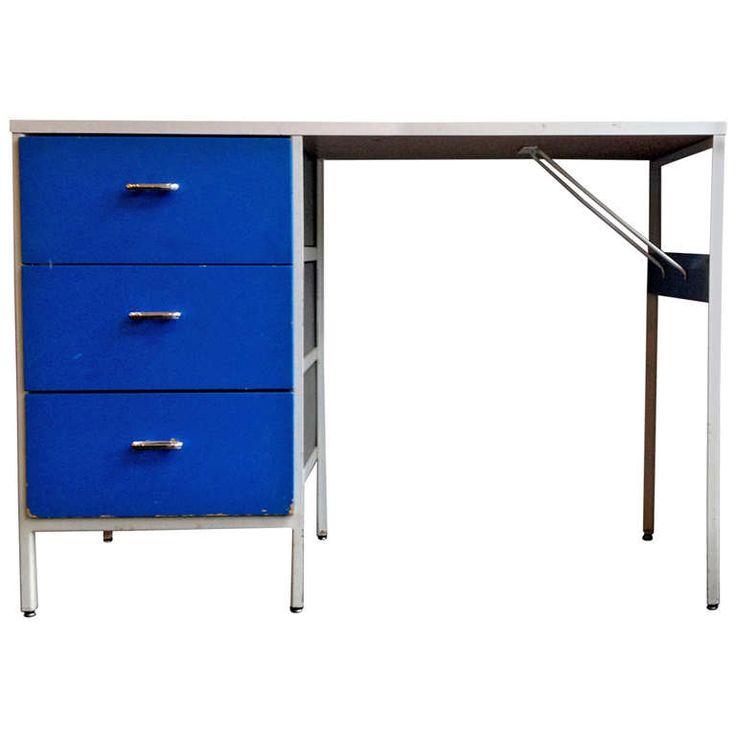 george nelson steel frame desk for herman miller 1950s - Herman Miller Umhllen Schreibtisch